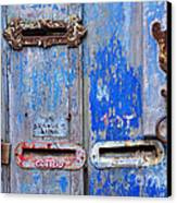 Old Mailboxes Canvas Print by Carlos Caetano