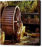 Old Mill Park Wheel Canvas Print by Robert Bales