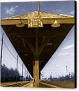 Old Railway Platform Canvas Print by Gordon Wood