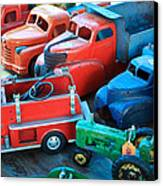 Old Tin Toys Canvas Print by Steve McKinzie