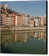 Old Town Of Lyon Canvas Print by Niall Sargent