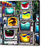 Old Tv's Abstract Canvas Print by Garry Gay