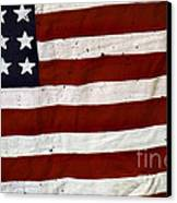 Old Usa Flag Canvas Print by Carlos Caetano