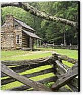Oliver Cabin In Cade's Cove Canvas Print by Randall Nyhof