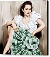 Olivia De Havilland, Ca. 1948 Canvas Print by Everett