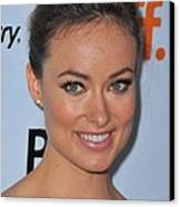 Olivia Wilde At Arrivals For Butter Canvas Print by Everett