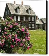 Olson House With Flowers Canvas Print by Theresa Willingham