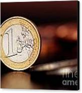 One Euro Coin Canvas Print by Soultana Koleska