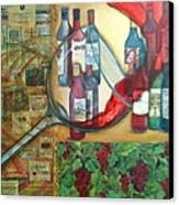 One Glass Too Many  Canvas Print by Debi Starr