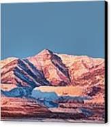 Oquirrh Mountains Utah First Snow Canvas Print by Tracie Kaska