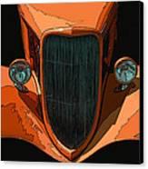Orange Jalopy Canvas Print by Samuel Sheats