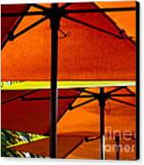 Orange Sliced Umbrellas Canvas Print by Karen Wiles