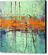 Orange Visitation Canvas Print by Lolita Bronzini