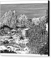 Organ Mountain Wintertime Canvas Print by Jack Pumphrey