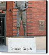 Orlando Cepeda At San Francisco Giants Att Park .7d7631 Canvas Print by Wingsdomain Art and Photography