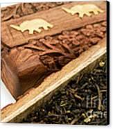 Ornate Box With Darjeeling Tea Canvas Print by Fabrizio Troiani