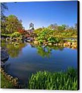 Osaka Garden Pond Canvas Print by Jonah  Anderson