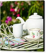 Outdoor Tea Party Canvas Print by Amanda And Christopher Elwell