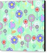 Overlayer Flowers  Canvas Print by Louisa Knight