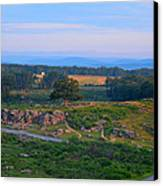 Overlook Of The Gettysburg Battlefield Canvas Print by Dave Sandt