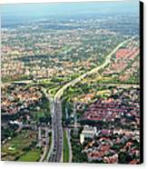 Overview Of Jakarta. Canvas Print by TeeJe
