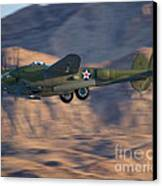 P-38 Gear Up Canvas Print by Tim Mulina