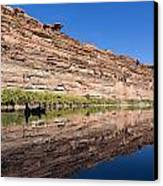 Paddling The Green River Canvas Print by Tim Grams