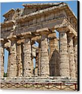 Paestum Temple Canvas Print by Paolo Modena