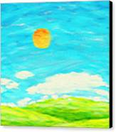 Painting Of Nature In Spring And Summer Canvas Print by Setsiri Silapasuwanchai