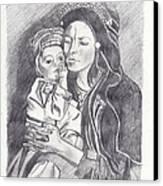 Pakistani Mother And Child Canvas Print by John Keaton