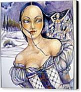 Pandora Canvas Print by Jackie Rock