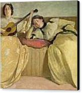 Panel For Music Room Canvas Print by John White Alexander