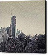 Panorama Of Central Park - Old Fashioned Sepia Canvas Print by Alex AG