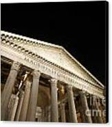 Pantheon At Night. Rome Canvas Print by Bernard Jaubert
