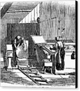 Papermaking, 1833 Canvas Print by Granger