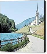 Parish Church St Nicholas Valdurna Italy Canvas Print by Joseph Hendrix