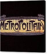 Parisienne Metro Sign Canvas Print by Rod Jones