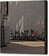 Parking In Rear Canvas Print by Odd Jeppesen