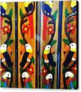 Parrots And Tucans  Canvas Print by Unique Consignment