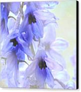 Passion For Flowers. Blue Dreams Canvas Print by Jenny Rainbow