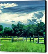 Pastoral Greenery Canvas Print by Lourry Legarde