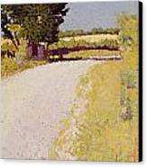 Path In The Country Canvas Print by Charles Angrand
