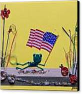 Patriot Frog Canvas Print by Gracies Creations