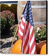 Patriotic Farm Stand Canvas Print by Kimberly Perry