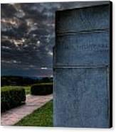 Paul Cret Gettysburg Monument Canvas Print by Andres Leon