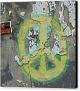Peace No Trespassing Canvas Print by Todd Sherlock