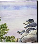 Peaceful Place Morning At The Lake Canvas Print by Irina Sztukowski