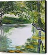 Peaceful Pond Canvas Print by Tessa Dutoit