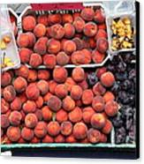 Peaches And Plums - 5d17913 Canvas Print by Wingsdomain Art and Photography