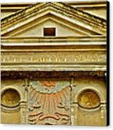 Pediment Of Oldest High School In France Canvas Print by Kirsten Giving